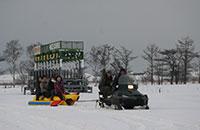 雪中バナナボート(冬期のみ開催)
